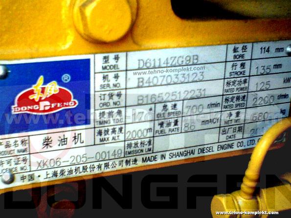 Запчастини на двигун Dongfeng