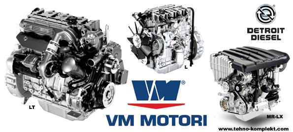 двигатель  VM  Motori (Detroit Diesel) серии D700 VM D704, VM D704LT
