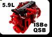 запчасти на двигатель камминс 6ISBe