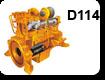 двигатель Комацу Серия d114